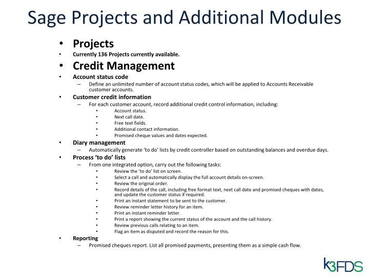 Sage Projects and Additional Modules