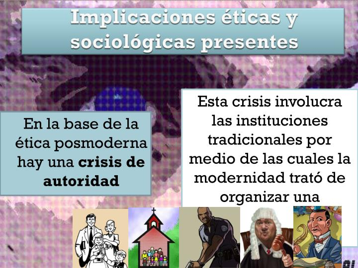 Implicaciones éticas y sociológicas presentes
