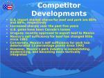 competitor developments