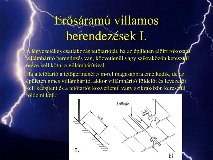 Erősáramú villamos berendezések I.