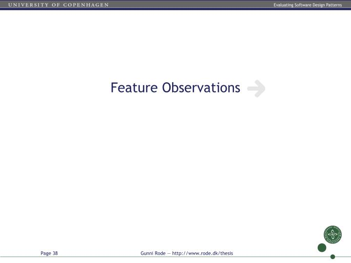 Feature Observations