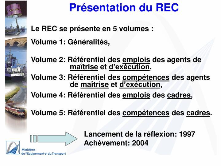Présentation du REC