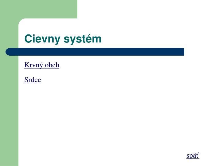 Cievny systém