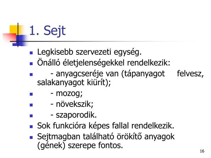 1. Sejt