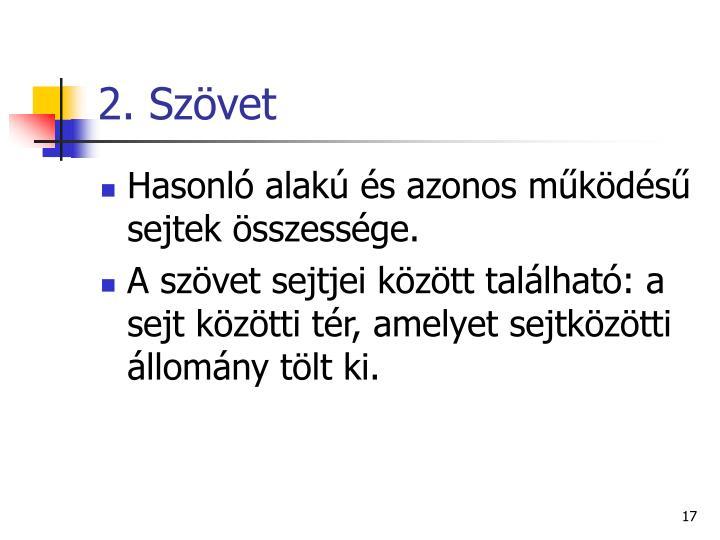 2. Szövet