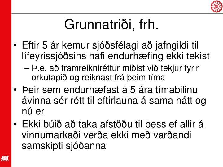 Grunnatriði, frh.