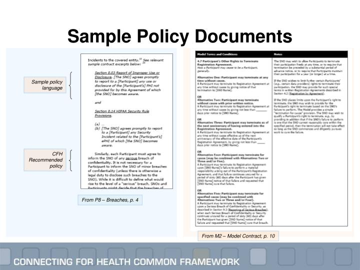 Sample Policy Documents