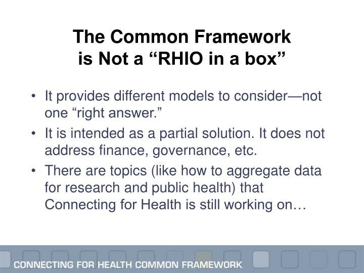 The Common Framework