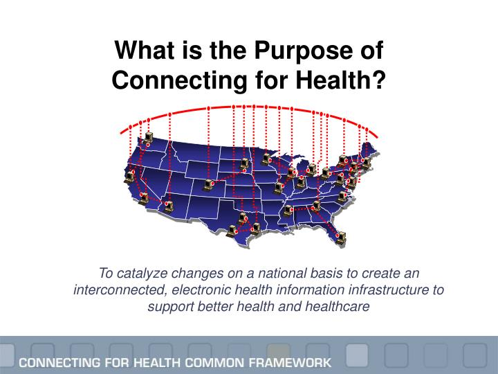 What is the Purpose of Connecting for Health?