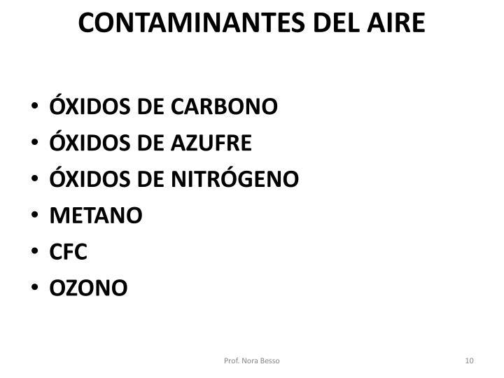 CONTAMINANTES DEL AIRE