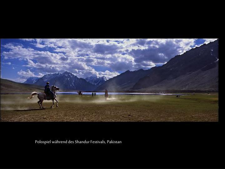 Polospiel während des Shandur Festivals, Pakistan