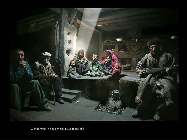 Wohnzimmer in einem Wakhi-Haus in Boroghil