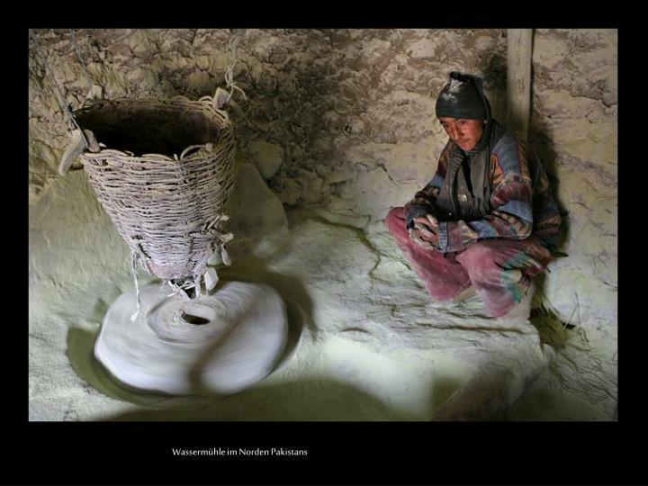 Wassermühle im Norden Pakistans