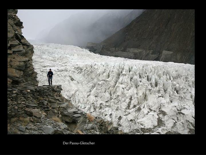 Der Passu-Gletscher