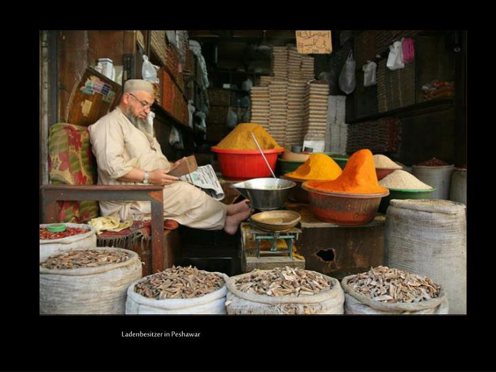 Ladenbesitzer in Peshawar