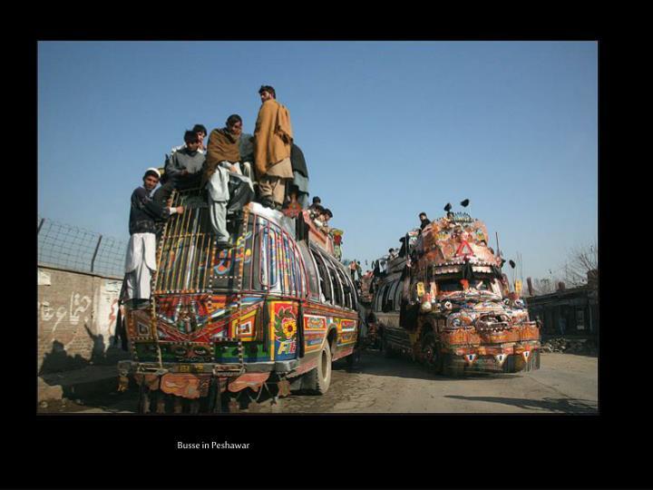 Busse in Peshawar