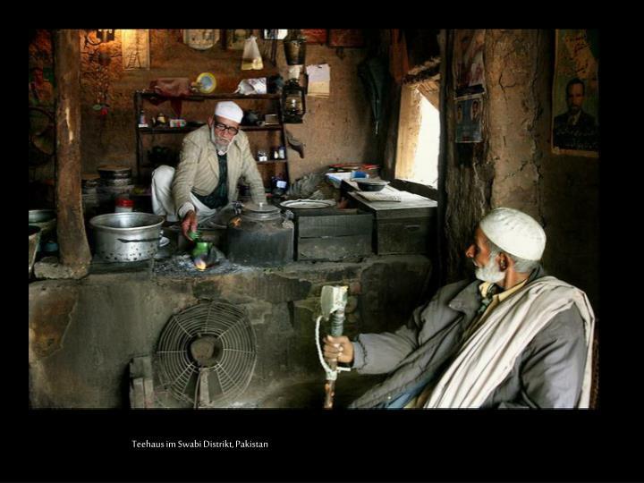 Teehaus im Swabi Distrikt, Pakistan