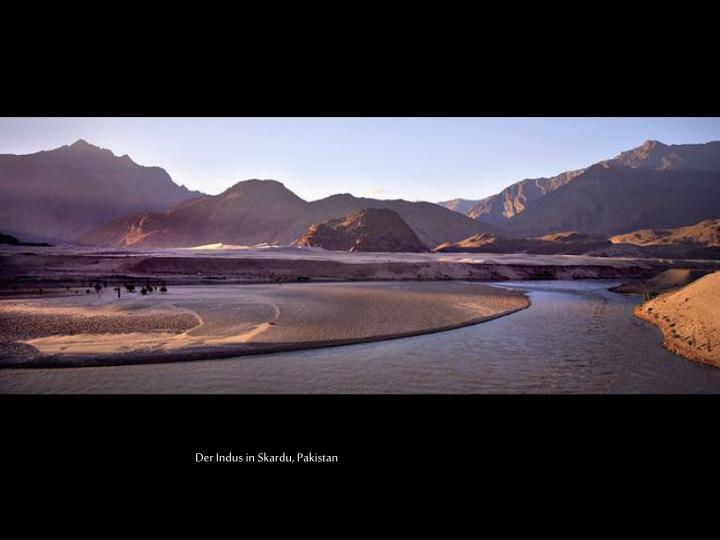 Der Indus in Skardu, Pakistan