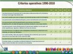 criterios operativos 1990 2010