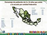 porcentaje de poblaci n de 6 a 14 a os que asiste a la escuela por entidad federativa1