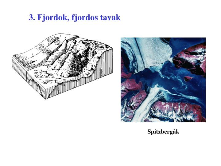 3. Fjordok, fjordos tavak