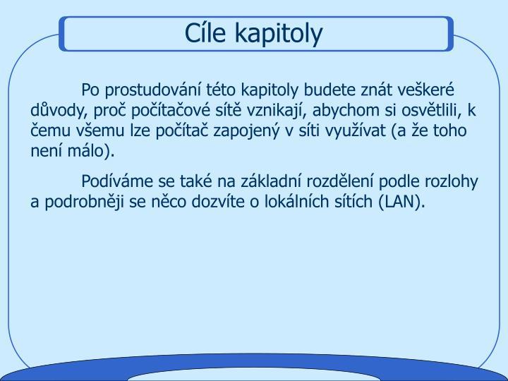 Cíle kapitoly