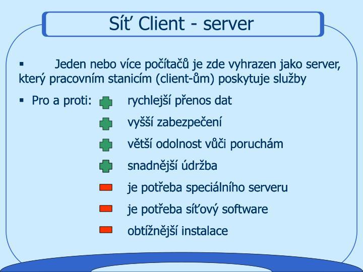 Síť Client - server