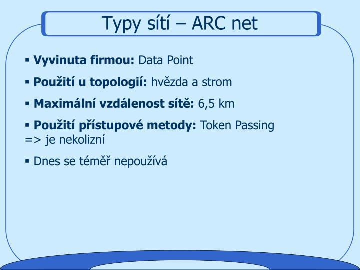 Typy sítí – ARC net