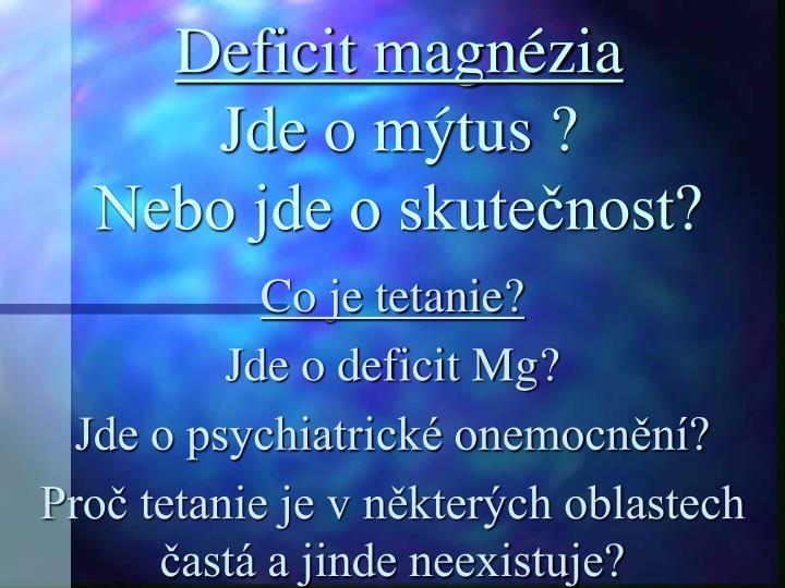 Deficit magnézia