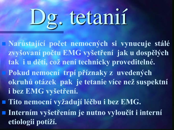 Dg. tetanií