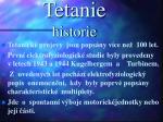 tetanie historie