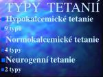 typy tetani