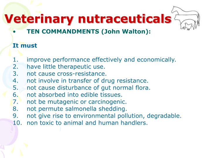 Veterinary nutraceuticals