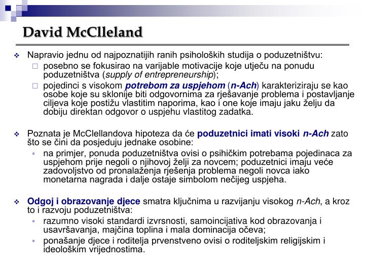 David McClleland