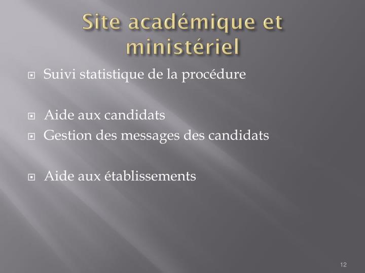 Site académique et ministériel