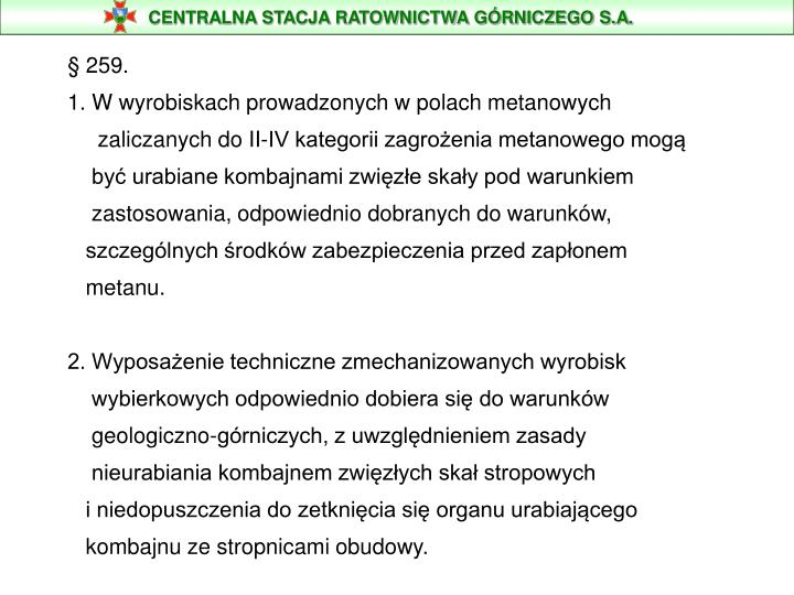 CENTRALNA STACJA RATOWNICTWA GÓRNICZEGO S.A.