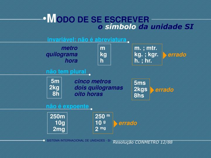invariável: não é abreviatura