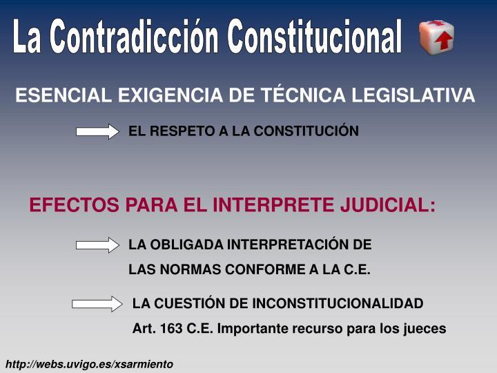 ESENCIAL EXIGENCIA DE TÉCNICA LEGISLATIVA