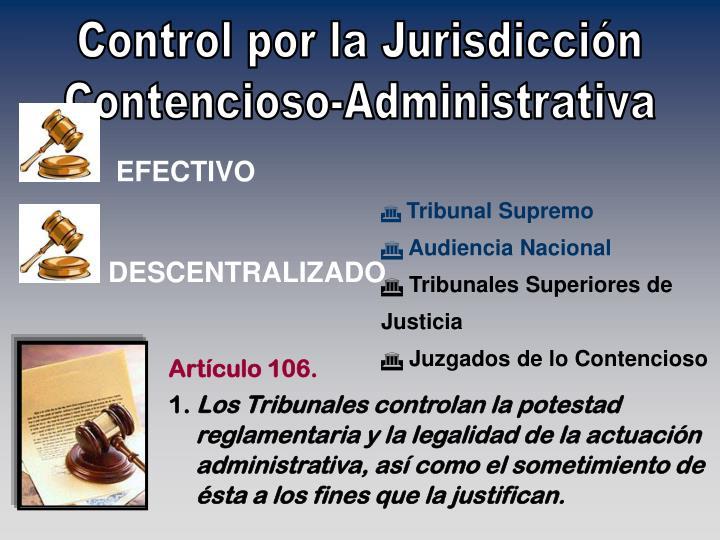Control por la Jurisdicción