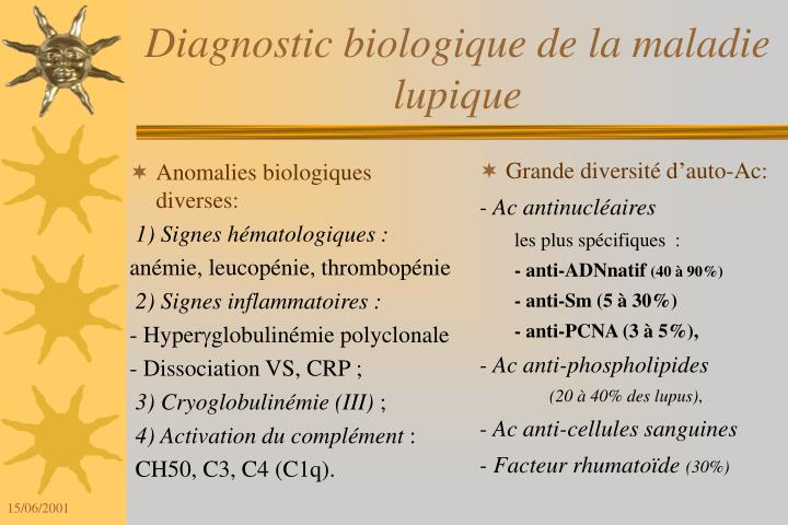 Anomalies biologiques diverses: