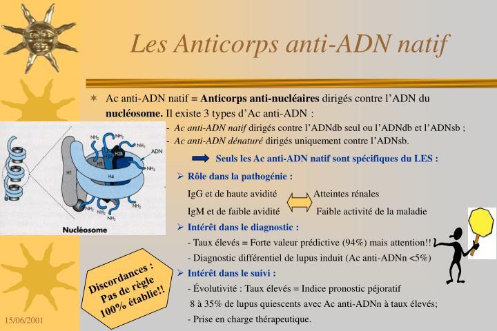 Seuls les Ac anti-ADN natif sont spécifiques du LES :