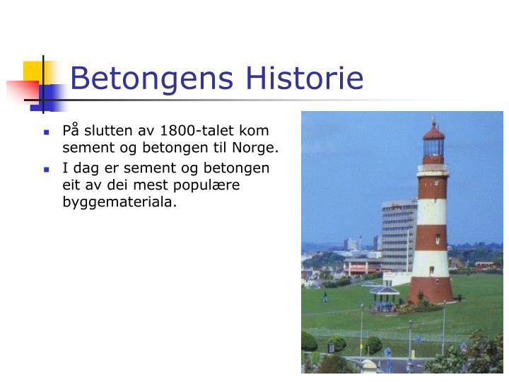Betongens Historie