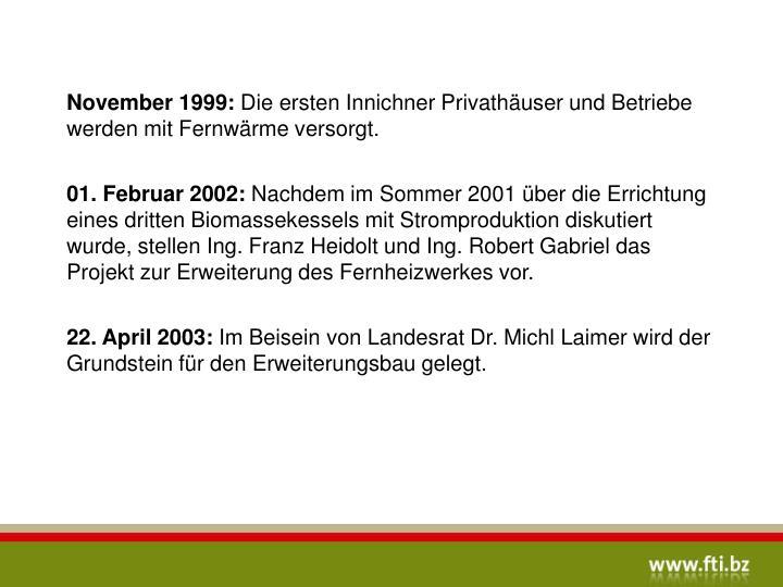 22. April 2003: