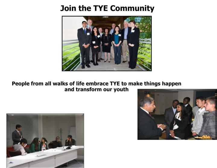 Join the TYE Community