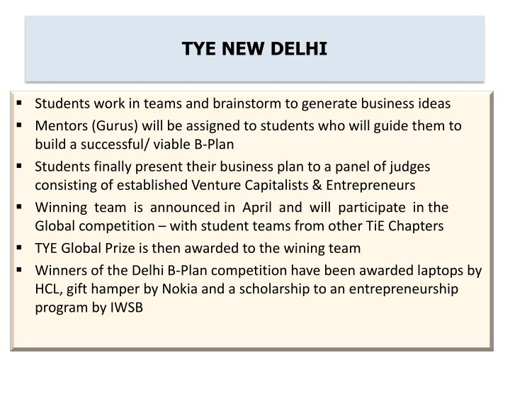 TYE NEW DELHI