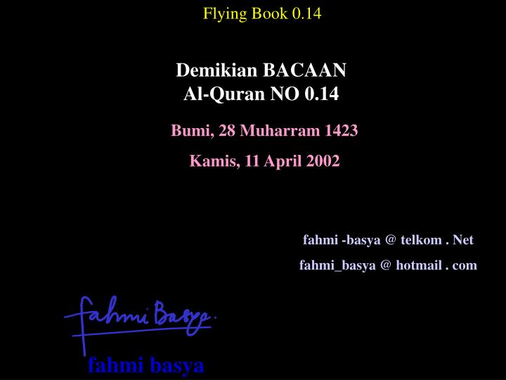 Flying Book 0.14