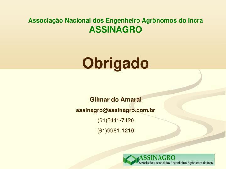 Associação Nacional dos Engenheiro Agrônomos do Incra