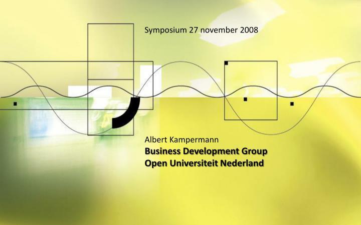 Symposium 27 november 2008