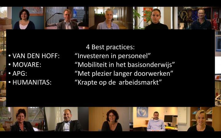 4 Best practices: