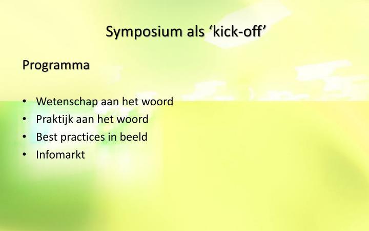 Symposium als '